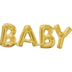 """Baby"" Phrase Gold Supershape"