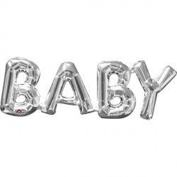 """Baby"" Phrase Silver Supershape"