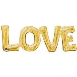 """Love"" Phrase Gold Supershape"