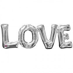 """Love"" Phrase Silver Supershape"