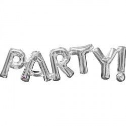 """Party!"" Phrase Silver Supershape"