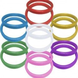 13g ASSORTED PLASTIC BANGLE WEIGHT 100CT