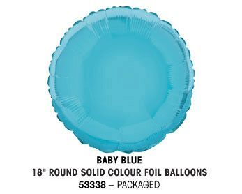 "18"" BABY BLUE ROUND PACKAGED"