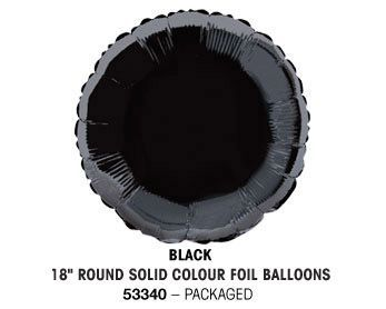 "18"" BLACK ROUND PACKAGED"