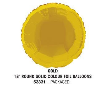 "18"" GOLD ROUND PACKAGED"