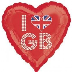 "18"" Great Britain I Love GB Red"