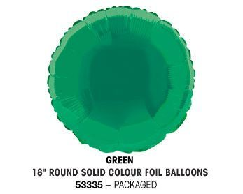 "18"" GREEN ROUND PACKAGED"