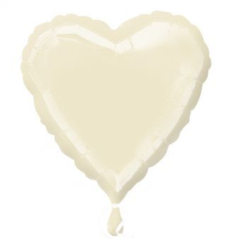 "18"" Iridescent Pearl Ivory Decorator Heart"