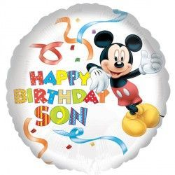"18"" MICKEY MOUSE HAPPY BIRTHDAY SON"