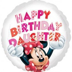 "18"" MINNIE MOUSE HAPPY BIRTHDAY DAUGHTER"