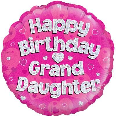 "18"" Oaktree Happy Birthday Granddaughter"