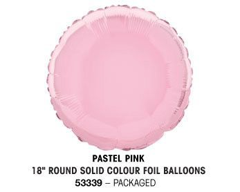 "18"" PASTEL PINK ROUND PACKAGED"
