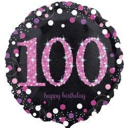 "18"" Pink Sparkling Celebration 100th"