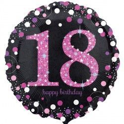 "18"" Pink Sparkling Celebration 18th"