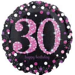 "18"" Pink Sparkling Celebration 30th"