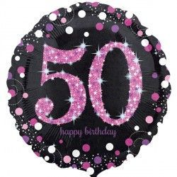 "18"" Pink Sparkling Celebration 50th"