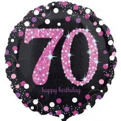 "18"" Pink Sparkling Celebration 70th"