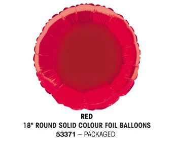 "18"" RED ROUND PACKAGED"