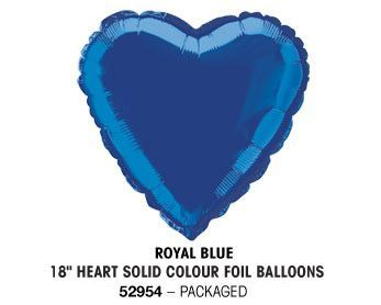 "18"" ROYAL BLUE HEART PACKAGED"