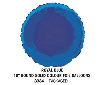 "18"" ROYAL BLUE ROUND PACKAGED"