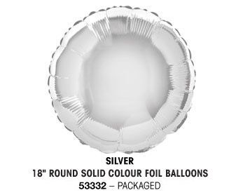 "18"" SILVER ROUND PACKAGED"