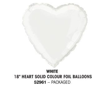 "18"" WHITE HEART PACKAGED"