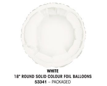 "18"" WHITE ROUND PACKAGED"