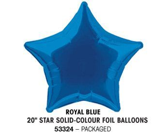 "20"" ROYAL BLUE STAR PACKAGED"