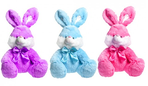 30CM COLOURFUL VALUE BUNNY  RABBIT (no pink)
