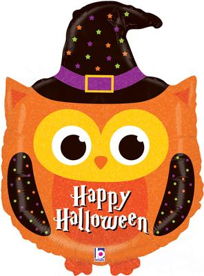 32inch Shape Halloween Owl Holographic