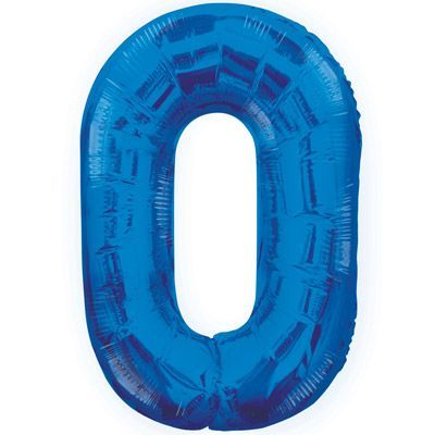 "34"" NUMERAL  FOIL BALLOON  #0 BLUE"