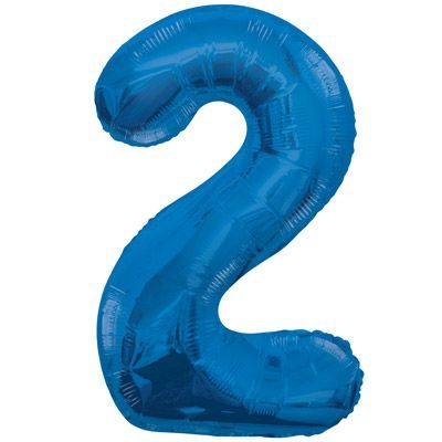 "34"" NUMERAL  FOIL BALLOON #2 BLUE"