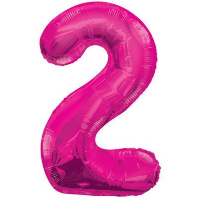 "34"" NUMERAL  FOIL BALLOON  #2 PINK"