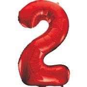 "34""  NUMERAL  FOIL BALLOON  #2 RED"