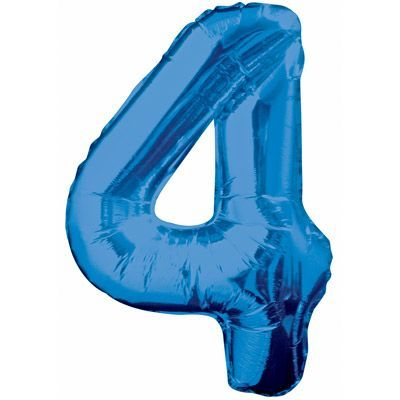 "34"" NUMERAL  FOIL BALLOON  #4 BLUE"