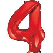 "34""  NUMERAL  FOIL BALLOON  #4 RED"