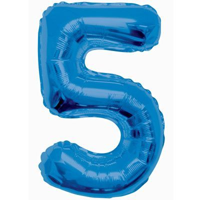 "34"" NUMERAL  FOIL BALLOON  #5 BLUE"