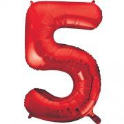 "34""  NUMERAL  FOIL BALLOON  #5 RED"