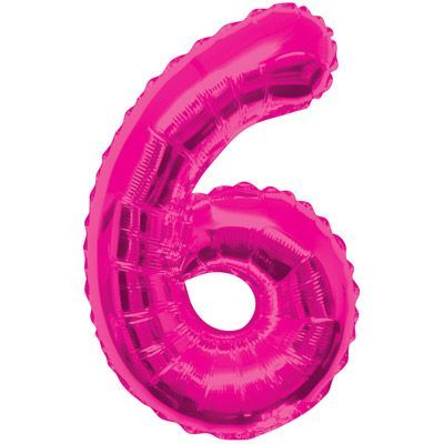 "34"" NUMERAL  FOIL BALLOON  #6 PINK"