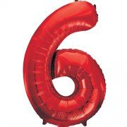 "34""  NUMERAL  FOIL BALLOON  #6 RED"