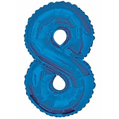 "34"" NUMERAL  FOIL BALLOON  #8 BLUE"