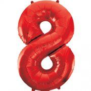 "34""  NUMERAL  FOIL BALLOON  #8 RED"