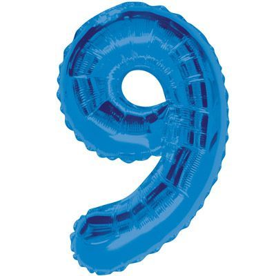 "34"" NUMERAL  FOIL BALLOON  #9 BLUE"