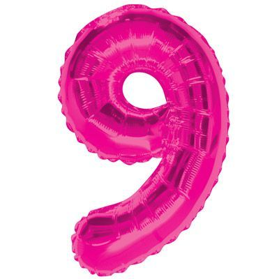 "34"" NUMERAL  FOIL BALLOON  #9 PINK"
