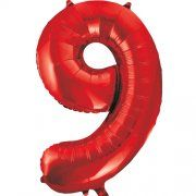 "34""  NUMERAL  FOIL BALLOON  #9 RED"
