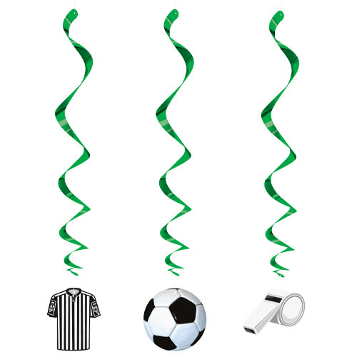 3D Soccer Hanging Swirl Decorations, 26""
