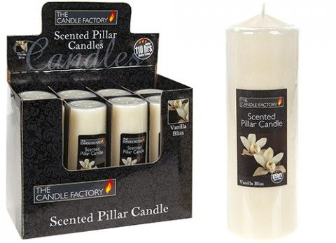 "8"" PILLAR IVORY CHURCH CANDLE  WITH VANILLA SCENT gift"