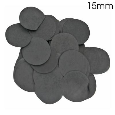 Black Paper Confetti 15mm