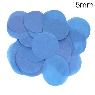Blue Paper Confetti 15mm