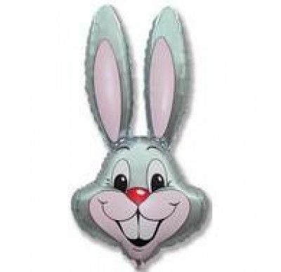 Jumbo Grey Rabbit Balloon